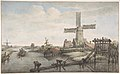 View of a Canal with Three Windmills MET DP801673.jpg