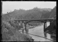 View of the road bridge spanning the Manawatu Gorge, ca 1903 ATLIB 273082.png