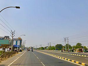 Vijayawada Bus Rapid Transit System - BRTS road near Gunadala