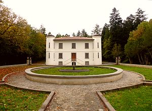 Monte Rasu - the Villa Piercy in the forest of Badde Salighes