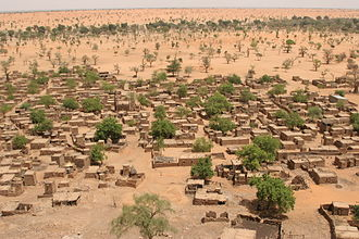 Desertification - Sahel region of Mali