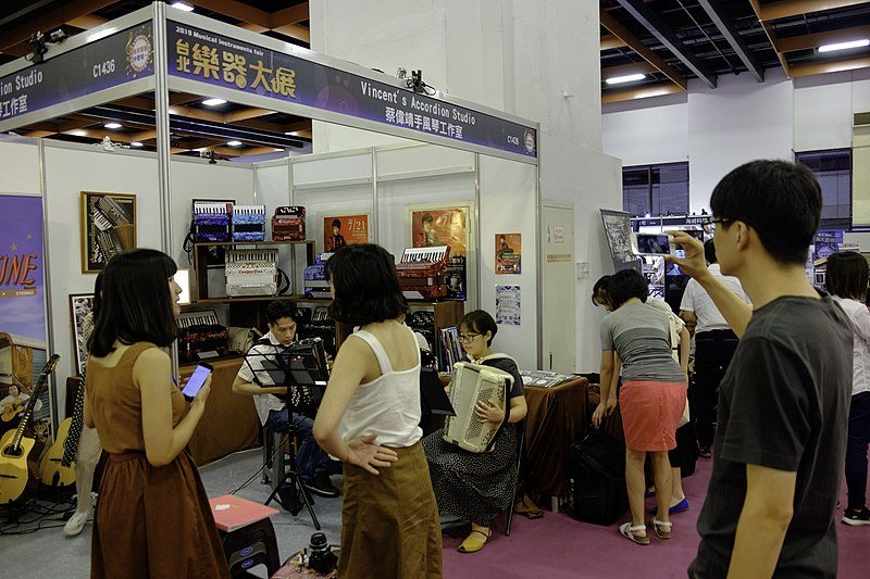 File:Vincent's Accordion Studio booth 20190713b.jpg