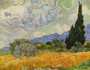 Campo di grano con cipressi wikipedia for Girasoli di van gogh da colorare