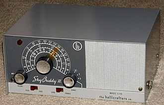 Hallicrafters S-119 Sky Buddy II, circa 1961-1962 Vintage Hallicrafters Sky Buddy II Amateur Receiver, Model S-119, Broadcast Plus 2 Short Wave Bands, 3 Tubes, Metal Case, Circa 1961 - 1964 (15120199081).jpg