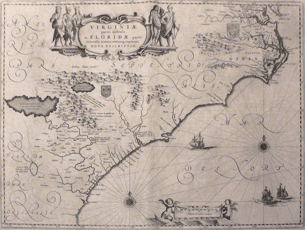 Virginia and Florida by W. Blaeu (MAM, Madrid, 413) 01