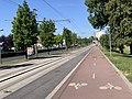 Voie cyclable Ligne 5 Tramway Avenue Division Leclerc Sarcelles 2.jpg