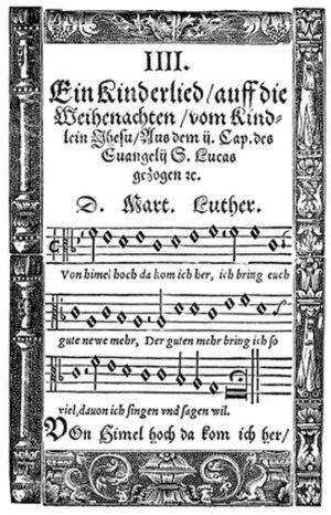 """Canonic Variations on """"Vom Himmel hoch da komm' ich her"""" - Martin Luther (1539): Vom Himmel hoch da komm ich her"""