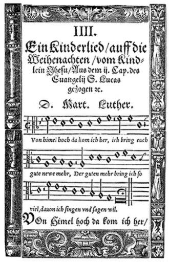Vom Himmel hoch, da komm ich her - 1567 publication