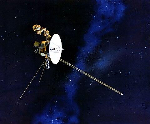Künstlerische Darstellung der Voyager 1 Raumsonde image source