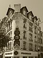 Vue N&B 2 des 2 façades de l'immeuble rues Bérard et Gillet Saint Etienne.jpg
