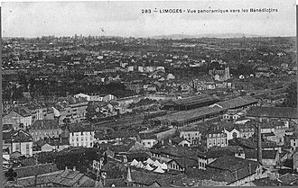 Gare de Limoges-Bénédictins - Image: Vue de l'ancienne gare des Bénédictins à Limoges