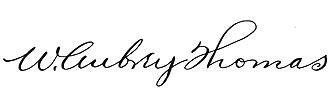 W. Aubrey Thomas - Image: W. Aubrey Thomas signature