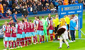 2015–16 West Bromwich Albion F.C. season - The Albion team prepares to face West Ham United at The Hawthorns.