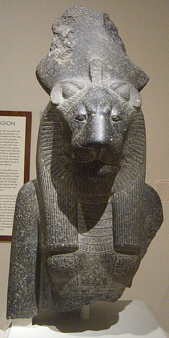 Sekhmet - Bust of the Goddess Sakhmet, ca. 1390-1352 B.C.E. Granodiorite, Brooklyn Museum