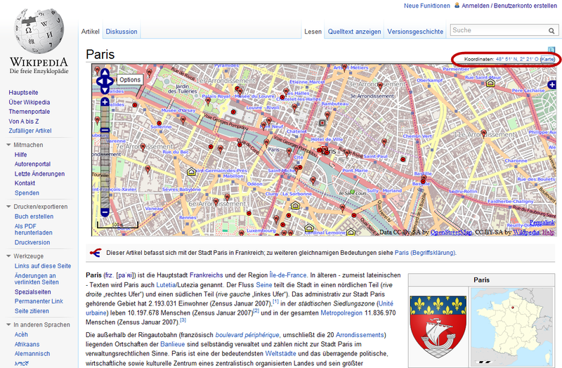 Karte Paris.файл Wp Osm Gadget Karte Im Artikel Paris Png Png википедия