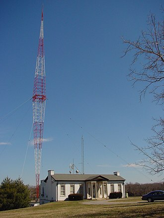 WSM (AM) - WSM's transmitter facility and Blaw-Knox tower, located just south of Nashville along Interstate 65 in Brentwood, Tennessee