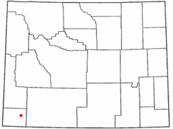 Location of Lyman, Wyoming