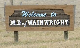 Municipal District of Wainwright No. 61 - Boundary sign