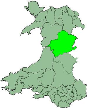 District of Montgomeryshire - Image: Wales Montgomery 1974