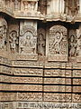 Wall frieze and moulding relief in Lakshminarayana temple at Hosaholalu.jpg