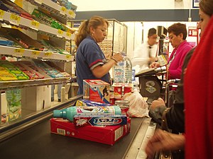 Cashier at Wal Mart - Plateros store located i...