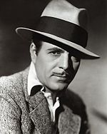 Warner Baxter in black an white promo photo