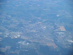 Washington Court House, Ohio - Aerial view of Washington Court House