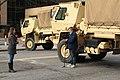 Washington DC Lockdown 15 - TV News Report Besides Military Trucks (50851360981).jpg