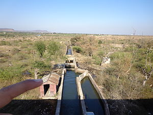 Tigra Dam - Water output from dam to the  Motijheel Filtration Plant Gwalior