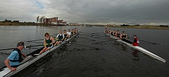 The Welsh Boat Race - Swansea and Cardiff Universities Men's Senior eights in 2006
