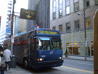 West busway in downtown pittsburgh - Pittsburgh port authority ...
