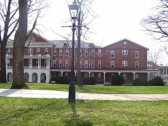 Hollins University - A view of West from the front quadrangle.
