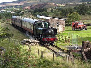Pontypool and Blaenavon Railway - Image: Whistle Inn Halt railway station geograph 4658463 by Gareth James