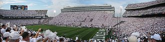 2007 Penn State Nittany Lions football team - The first stadium-wide White-Out for the Notre Dame game