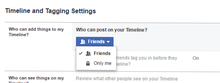 Screenshot of Facebook privacy settings section.