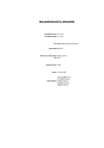 File:Wikimedia Eesti financial statement 2017 (Estonian).pdf