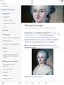 "Wikipedia iPad screenshot of ""Olympe de Gouge"" in French - vertical intro display.png"