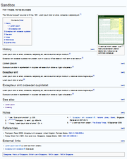 Wikipediamanual of stylelayout wikipedia an article with a table of contents block and an image near the start then maxwellsz