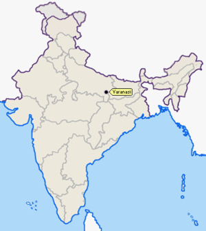 2010 Varanasi bombing - Location of Varanasi in India
