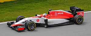 Marussia MR03 - Will Stevens driving the MR03B at the 2015 Canadian Grand Prix
