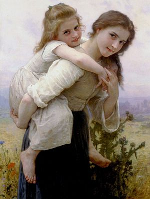 Agreeableness - Agreeable Burden (William-Adolphe Bouguereau, 1895)