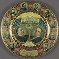 "William H. Taft-Sherman Tin ""Grand Old Party Standard Bearers"" Portrait Plate, 1908 (4360102288).jpg"