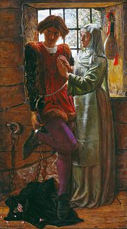 Claudio and Isabella (1850) by William Holman Hunt