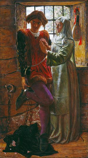 Measure for Measure - Claudio and Isabella (1850) by William Holman Hunt