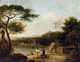 1765 in art - Richard Wilson, Lake Avernus I
