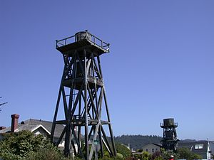 Mendocino, California - Wooden water towers