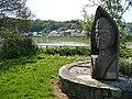 Wood carving of Guinivere, Caerleon - geograph.org.uk - 1288897.jpg