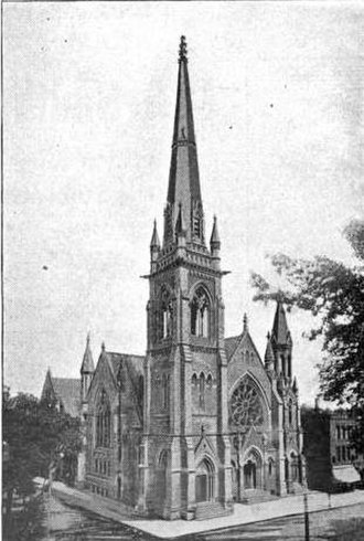 Religious Structures of Woodward Avenue Thematic Resource - Image: Woodward Avenue Baptist Church 1899