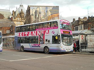 Britannia (TV series) - Advertising of the series on a First Leeds bus