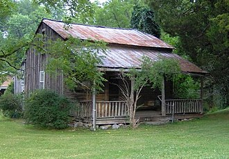 Music of East Tennessee - The Peter Brickey House, a pioneer home in Wears Valley, in the Great Smoky Mountains of Tennessee